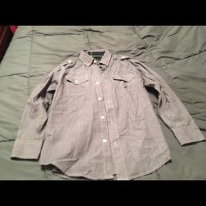Boys Nautica size 10/12 button up shirt